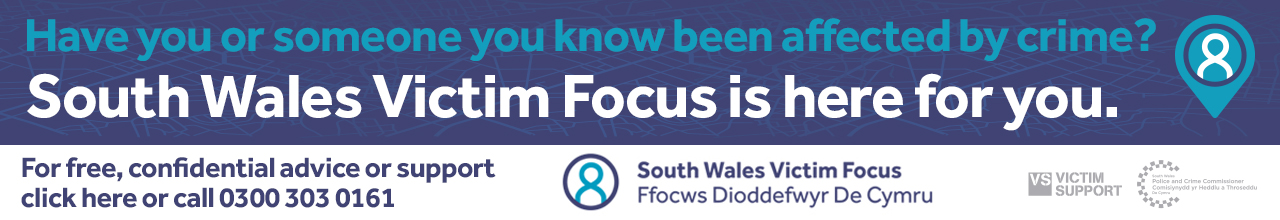 South Wales Victim Focus website banner