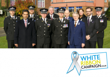 Chief Officers and Commissioner's Team wearing White Ribbons